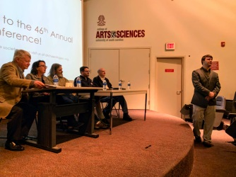 The panel was moderated by archaeologist and ASSC journal editor Joe Wilkinson.